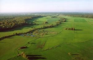 Luftbild Saalbachniederung