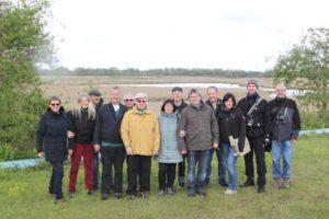 """Die Teilnehmer des Ausflugs in das Naturschutzgebiet """"Wagbachniederung"""""""