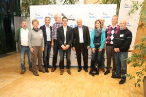 Vertreter der NABU Gruppe Hambrücken, sowie weiterer Gruppen im Kreis Karslruhe mit dem Bundesvorsitzenden Olaf Tschimpke und dem neu gewählten Landesvorsitzenden Johannes Enssle.
